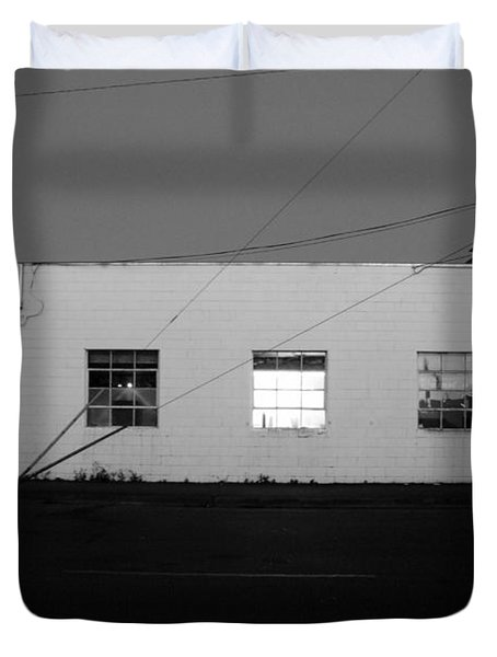 Duvet Cover featuring the photograph Last Light On by Kathleen Grace