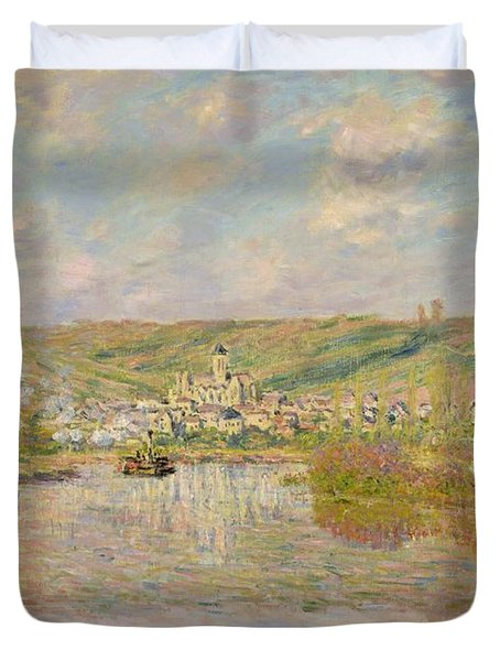 Late Afternoon - Vetheuil Duvet Cover by Claude Monet