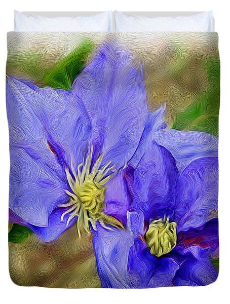 Lavendar Blue Duvet Cover
