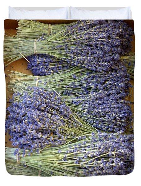Duvet Cover featuring the photograph Lavender Bundles by Lainie Wrightson