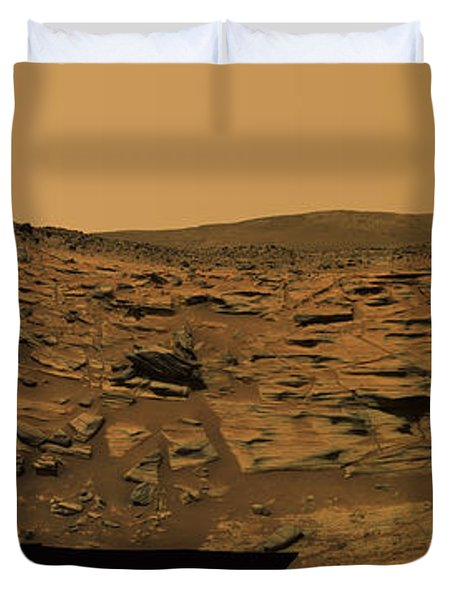 Layered Exposures Of Rock Duvet Cover by Stocktrek Images