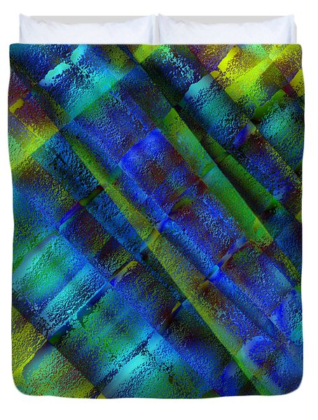 Duvet Cover featuring the photograph Layers Of Blue by David Pantuso