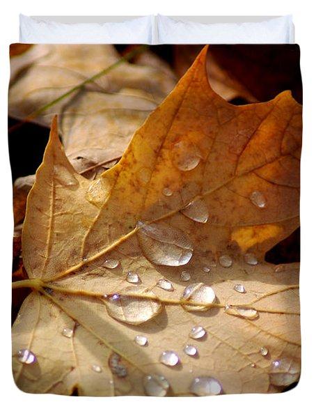 Leaf Doplets Duvet Cover by LeeAnn McLaneGoetz McLaneGoetzStudioLLCcom