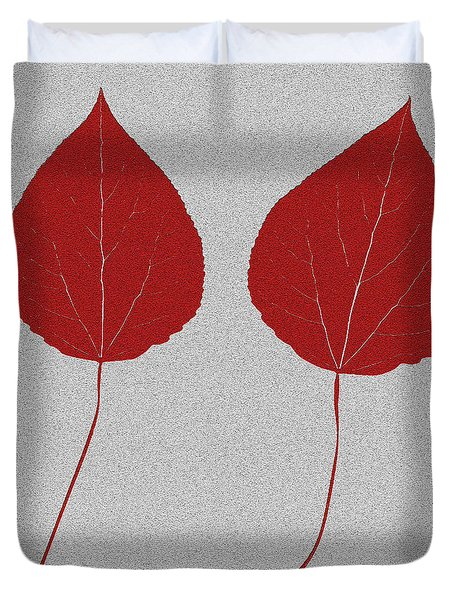 Leafs Rouge Duvet Cover