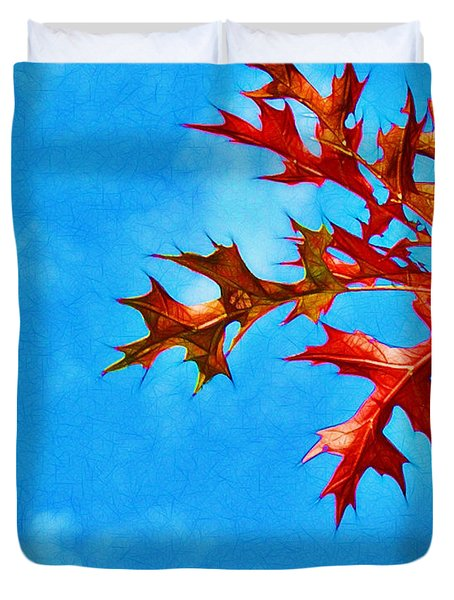 Leaves Against The Sky Duvet Cover by Judi Bagwell