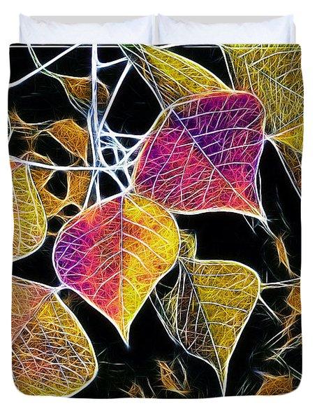 Leaves Duvet Cover by Judi Bagwell