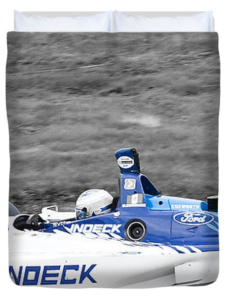 Leaving The Pits Duvet Cover by Darcy Michaelchuk
