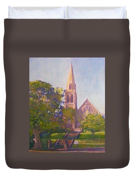 Leckie Memorial  Church  Peebles Scotland Duvet Cover