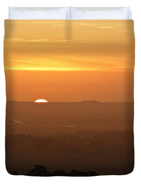 Leicestershire Sunrise Duvet Cover by Linsey Williams