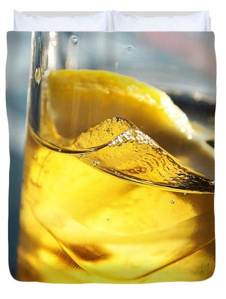 Lemon Drink Duvet Cover