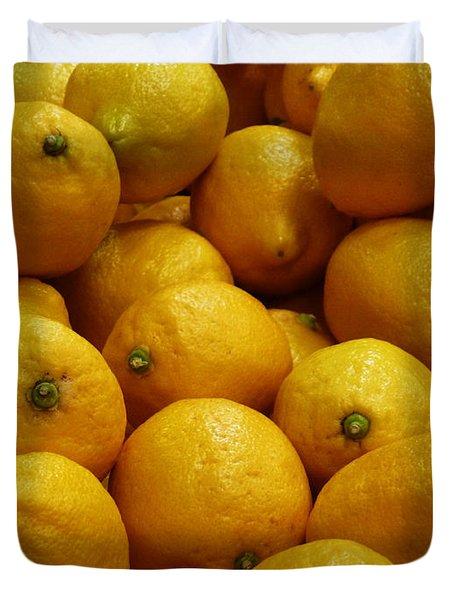 Lemons Duvet Cover by Methune Hively