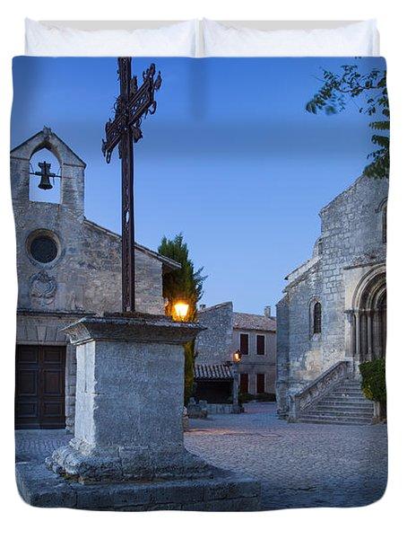 Les Baux Churches Duvet Cover