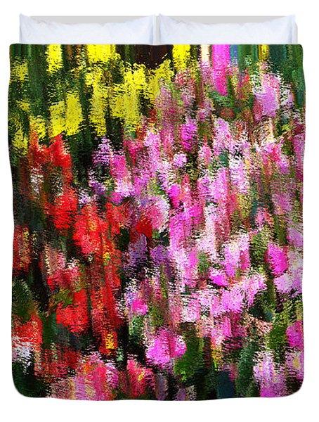 Les Fleurs Duvet Cover by Terence Morrissey