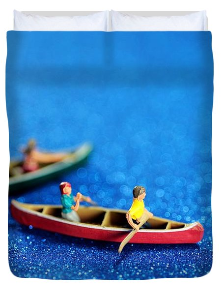 Let's Boating Together Duvet Cover by Paul Ge