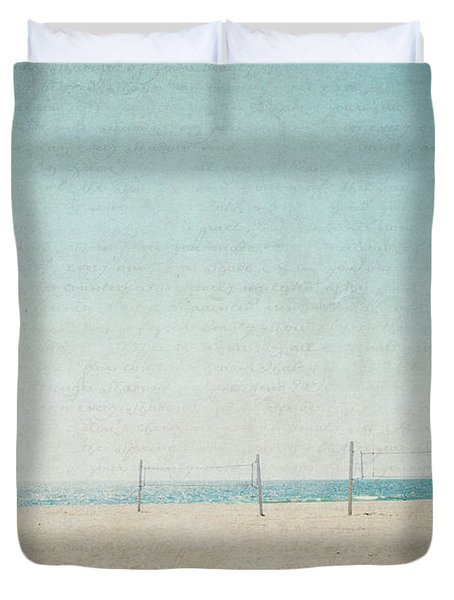 Duvet Cover featuring the photograph Letters From The Beach by Lisa Parrish