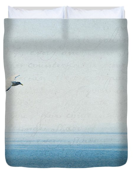 Duvet Cover featuring the photograph Letters From The Sky by Lisa Parrish