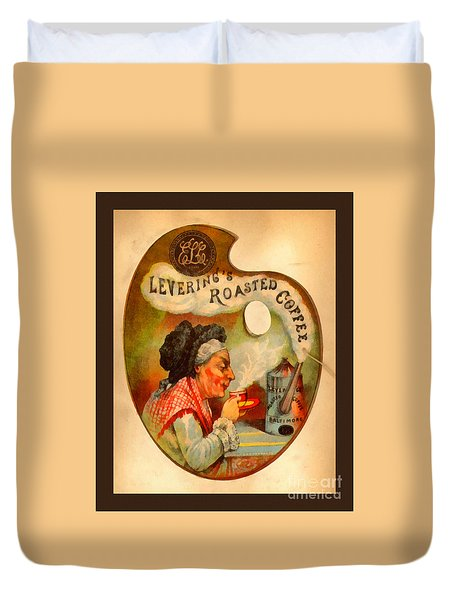 Levering's Roasted Coffee Duvet Cover by Anne Kitzman