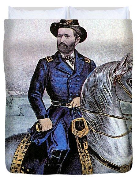 Lieutenant General Ulysses S Grant Duvet Cover by Photo Researchers