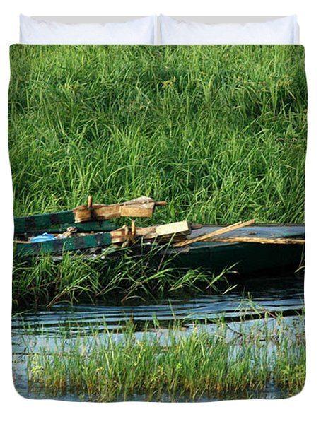 Duvet Cover featuring the photograph Life Along The Nile by Vivian Christopher