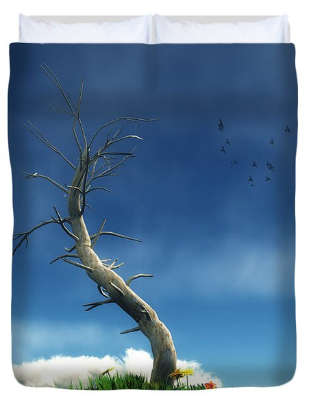Life And Death... Duvet Cover by Tim Fillingim
