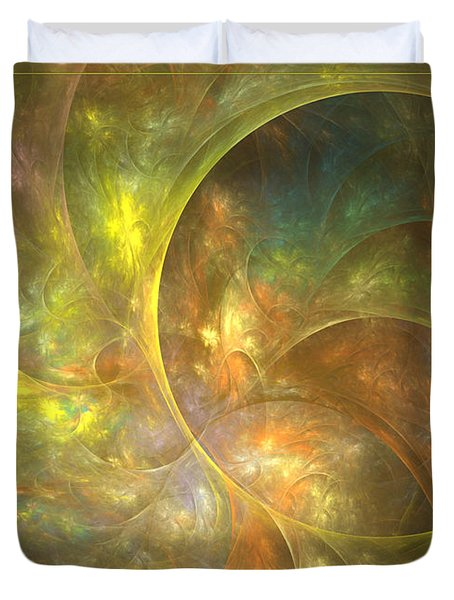 Life Of Leaf - Abstract Art Duvet Cover