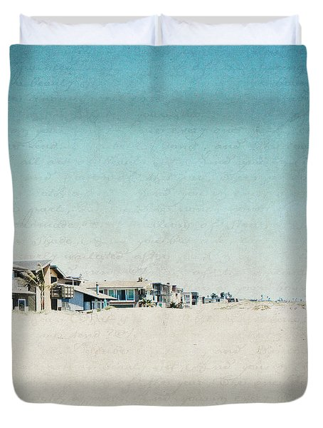 Duvet Cover featuring the photograph Letters From The Beach House - Square by Lisa Parrish