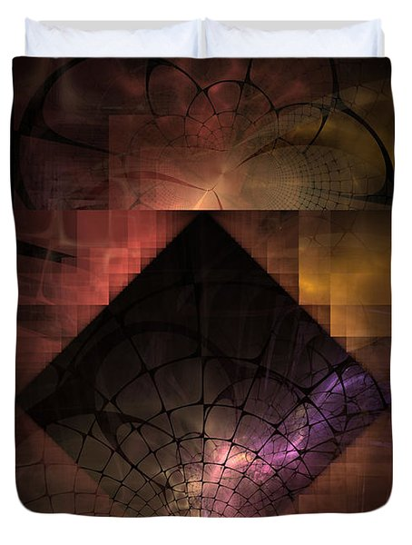 Duvet Cover featuring the digital art Light Of The World by NirvanaBlues