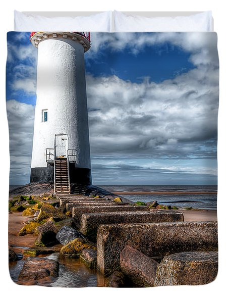 Lighthouse Entrance Duvet Cover by Adrian Evans