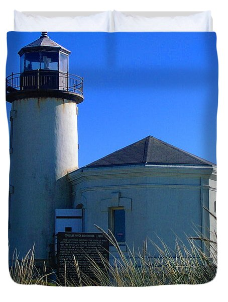 Duvet Cover featuring the photograph Lighthouse by Rory Sagner