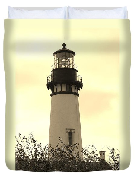 Lighthouse Tranquility Duvet Cover by Athena Mckinzie