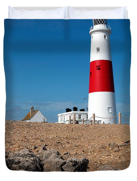 Lighthouse Vertical Duvet Cover