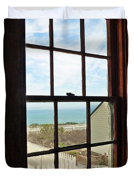 Lighthouse Window Duvet Cover by Methune Hively