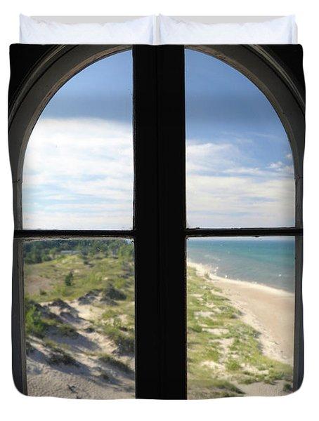 Lighthouse Window Duvet Cover