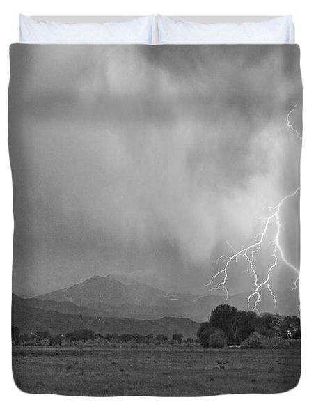 Lightning Striking Longs Peak Foothills 7cbw Duvet Cover by James BO  Insogna