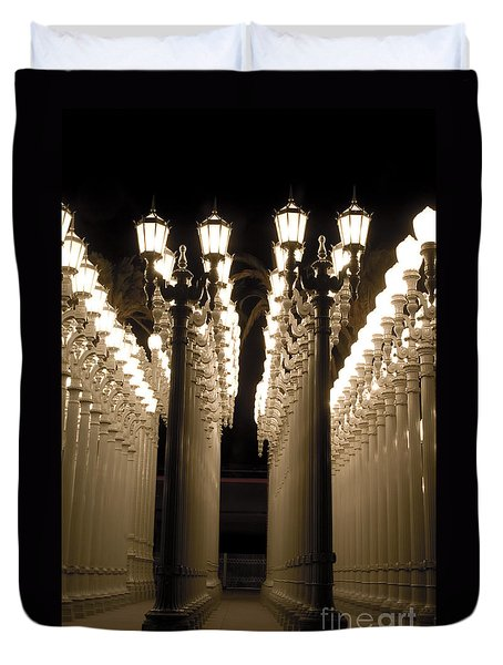 Lights In Art Exhibit In La Duvet Cover