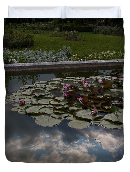 Lillies And Clouds Duvet Cover