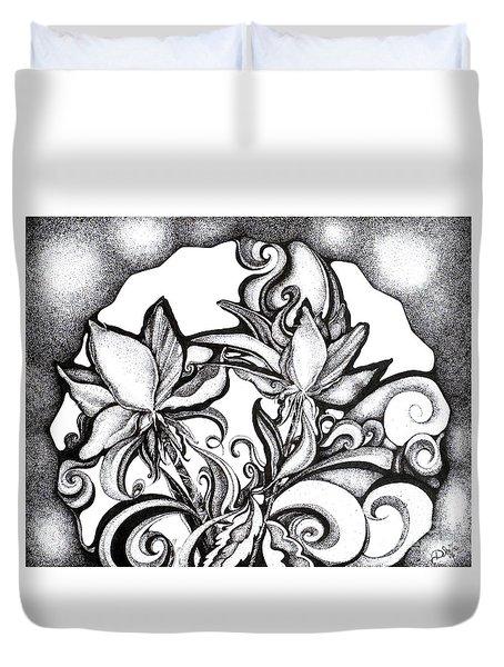 Lily Garden Duvet Cover