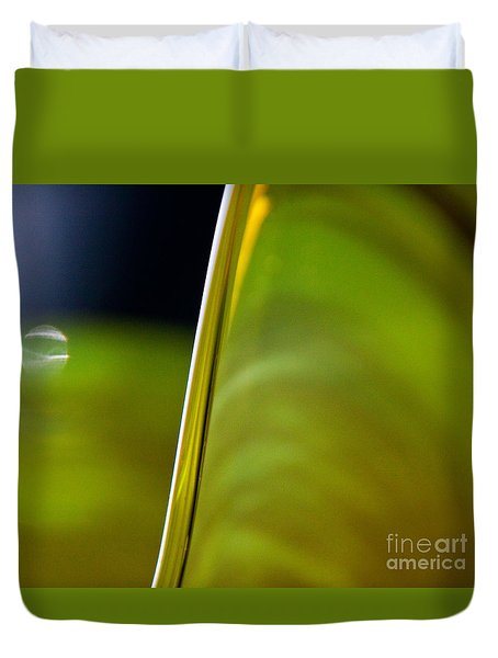 Lime Abstract Duvet Cover by Dana Kern