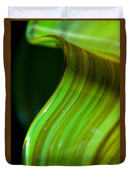 Lime Curl Ll Duvet Cover by Dana Kern