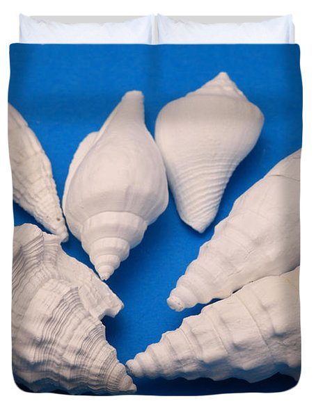 Lime Made From Seashells Duvet Cover by Ted Kinsman
