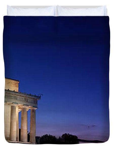 Lincoln Memorial At Sunset Duvet Cover