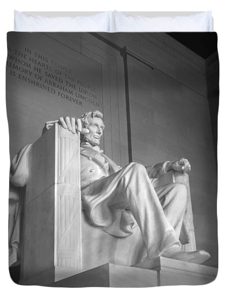 Lincoln Memorial  Duvet Cover by Mike McGlothlen