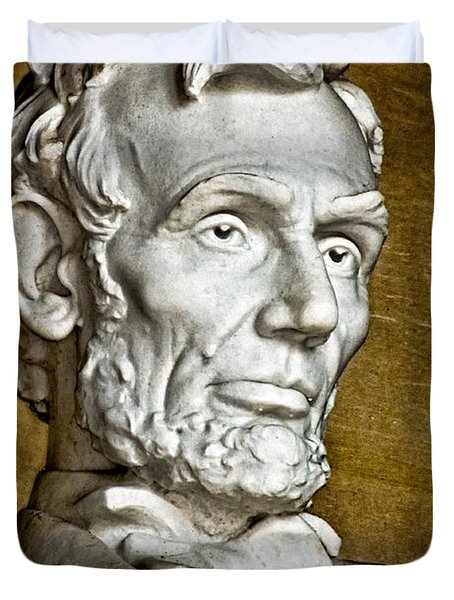 Lincoln Profle 2 Duvet Cover by Christopher Holmes