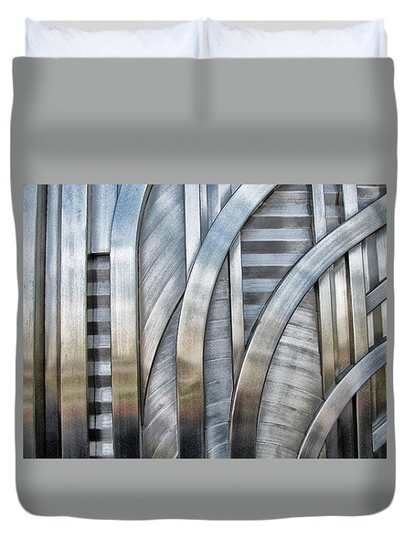 Duvet Cover featuring the photograph Lines And Curves by Tammy Espino