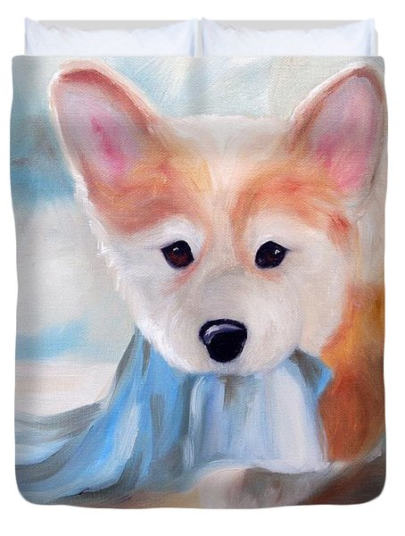 Linus And His Blanket Duvet Cover by Mary Sparrow