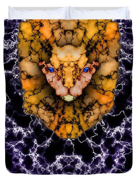 Lion's Roar Duvet Cover by Christopher Gaston