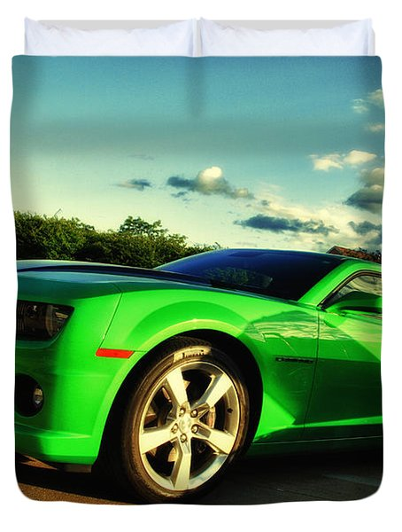 Liquid Green Duvet Cover
