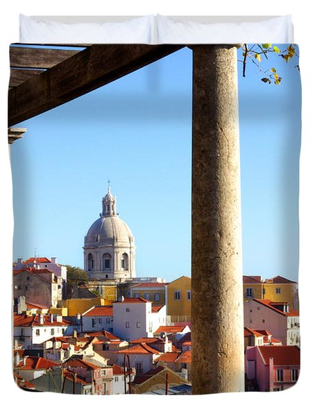 Lisbon View Duvet Cover by Carlos Caetano