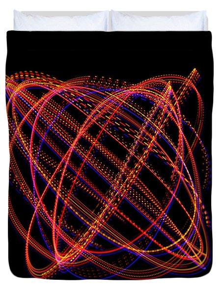 Lissajous Figure Duvet Cover by Ted Kinsman