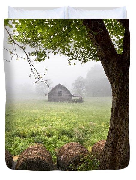 Little Barn Duvet Cover by Debra and Dave Vanderlaan